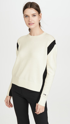 Victoria Victoria Beckham Open Back Crew Neck Sweater
