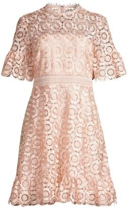 Shoshanna Sora Lace Eyelet A-Line Dress