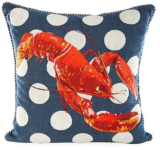 Mackenzie Childs Lobster Outdoor Accent Pillow