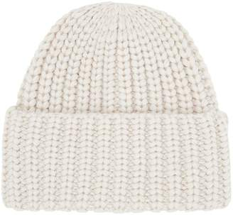 Accessorize Bea Chunky Turn Up Beanie Hat - Natural