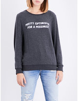 Wildfox Couture Pretty Optimistic Monte Crop fleece sweatshirt