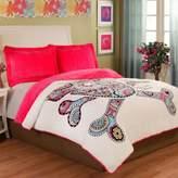 Punk Love Velvet Plush Comforter Set in Pink