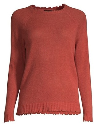 Minnie Rose Distressed Cashmere Sweater