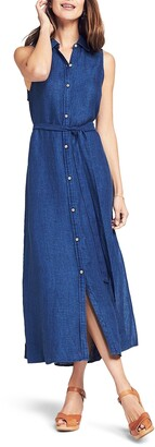Faherty Dionis Sleeveless Linen Maxi Dress