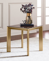 Interlude Home Bradshaw Brushed Brass Side Table