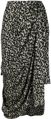 Isabel Marant Ixora asymmetric draped skirt