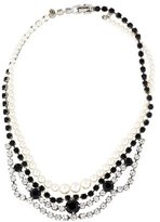 Tom Binns Crystal & Pearl Collar Necklace