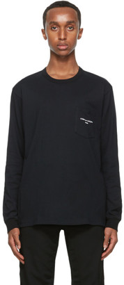 Comme des Garçons Homme Black Logo Long Sleeve T-Shirt