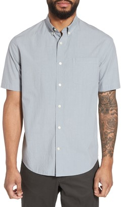 Vince Solid Short Sleeve Slim Fit Sport Shirt
