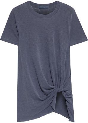 Stateside Twist-front Slub Supima Cotton-jersey T-shirt