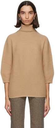 Max Mara Brown Wool and Cashmere Etrusco Turtleneck