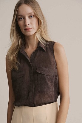Witchery Textured Sleeveless Shirt