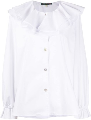 ALEXACHUNG Ruffled Collar Shirt
