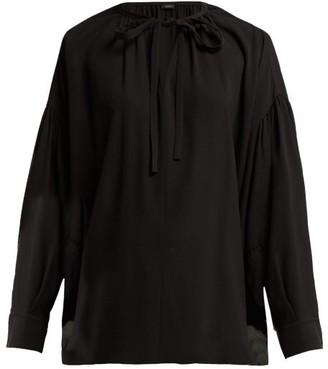 Joseph Elijah Tie-neck Silk-georgette Blouse - Womens - Black