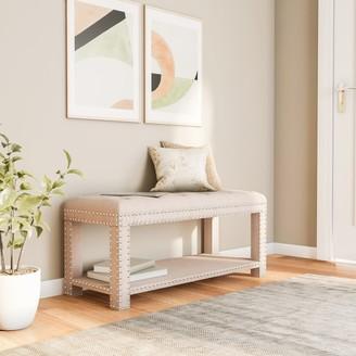 Linon Joanna Upholstered Bench