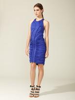 Vera Wang Sleeveless Ruched Zipper Dress