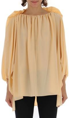 Chloé Gathered Long Sleeve Blouse