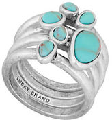 Lucky Brand California Gardens Turquoise Semi-Precious Calcite Stacked Ring