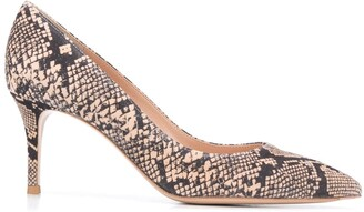 Gianvito Rossi Snakeprint 75mm Pumps