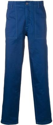 MAISON KITSUNÉ contrast stitch straight trousers