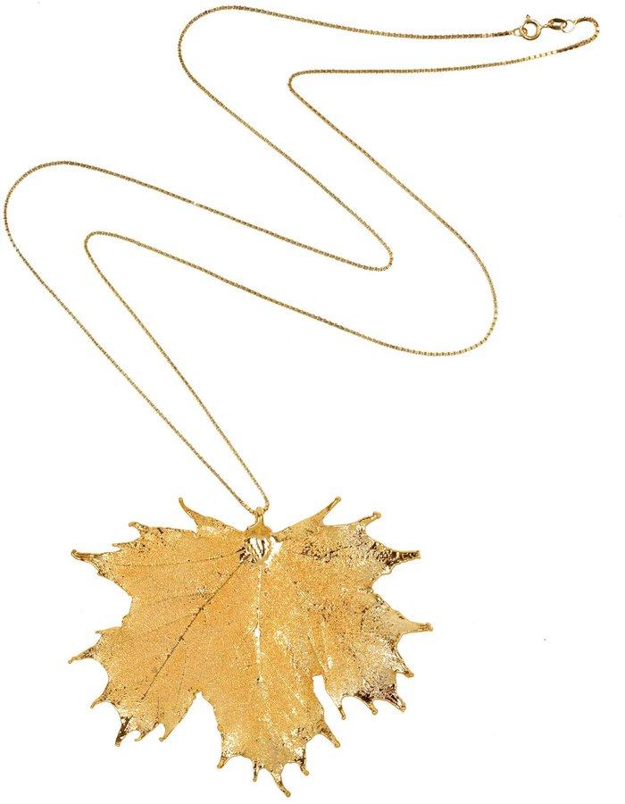 Emilie Hagen Gold Maple Leaf Necklace