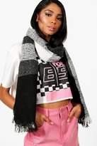 boohoo Mia Block Stripe Oversized Blanket Scarf