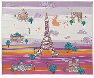 Camilla And Marc Eiffel Textile France - Carpet, 90 x 110 cm, Mauve/Orange