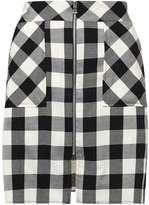 Dorothy Perkins Monochrome Check Zip A-Line skirt