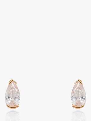 V by Laura Vann Evelyn Pear Cubic Zirconia Stud Earrings, Gold