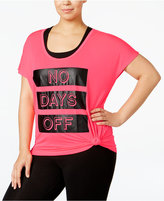 Material Girl Active Plus Size Be Flawless Graphic Top, Only at Macy's