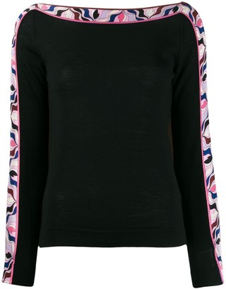 Emilio Pucci abstract print detail jumper