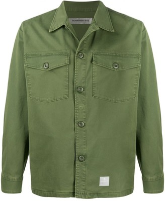 DEPARTMENT 5 Logo Embroidered Shirt Jacket