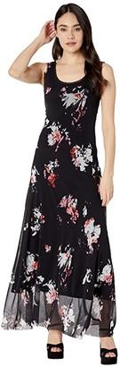 Fuzzi Long Tank Dress (Black) Women's Dress