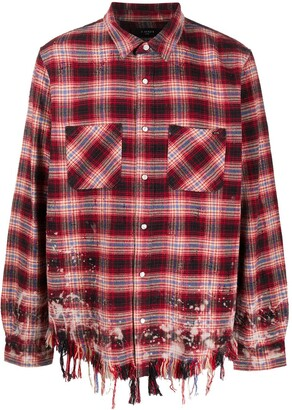 Amiri Distressed Check Shirt