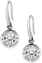 Michael Kors Bezel Set Crystal Logo Drop Earrings