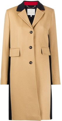 Tommy Hilfiger Colour Block Single Breasted Coat