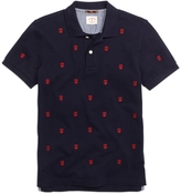 Brooks Brothers Allover Embroidered Polo Shirt