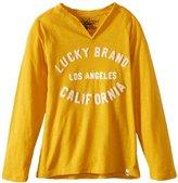 Lucky Brand Boys 8-20 Applique Logo Raglan Top
