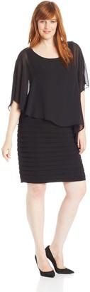 Adrianna Papell Women's Plus-Size Chiffon-Overlay Dress
