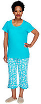Carole Hochman Dogwood 100% Cotton Jersey 2-piece Capri PJ Set