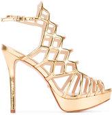 Schutz platform metallic sandals