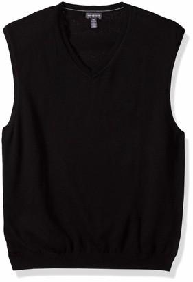 Van Heusen Men's Solid Sweater Vest 12GG