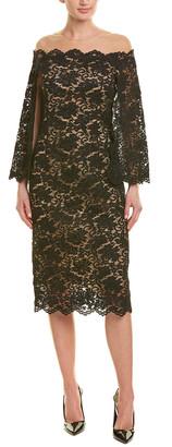 Oscar de la Renta Silk-Lined Midi Dress