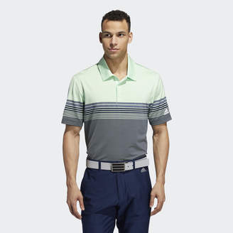 adidas Ultimate365 Gradient Block Stripe Polo Shirt