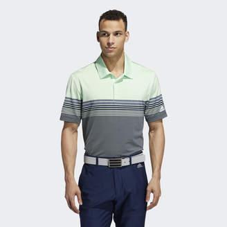adidas Ultimate365 Gradient Block Stripe Polo Shirt