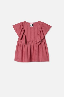 Cotton On Francis Short Sleeve Frill Top