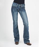 Stetson Blue Diamond Back Pocket Straight-Leg Jeans - Women