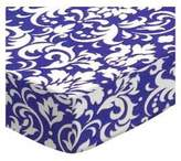 SheetWorld Fitted Pack N Play (Graco Square Playard) Sheet - Damask - Made In USA - 36 inches x 36 inches ( 91.4 cm x 91.4 cm)