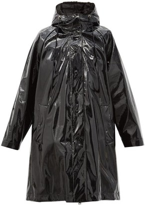 Moncler Pott Pvc Hooded Raincoat - Black