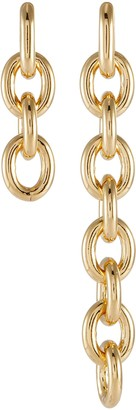 Numbering 18k Gold Plated Chain Earring